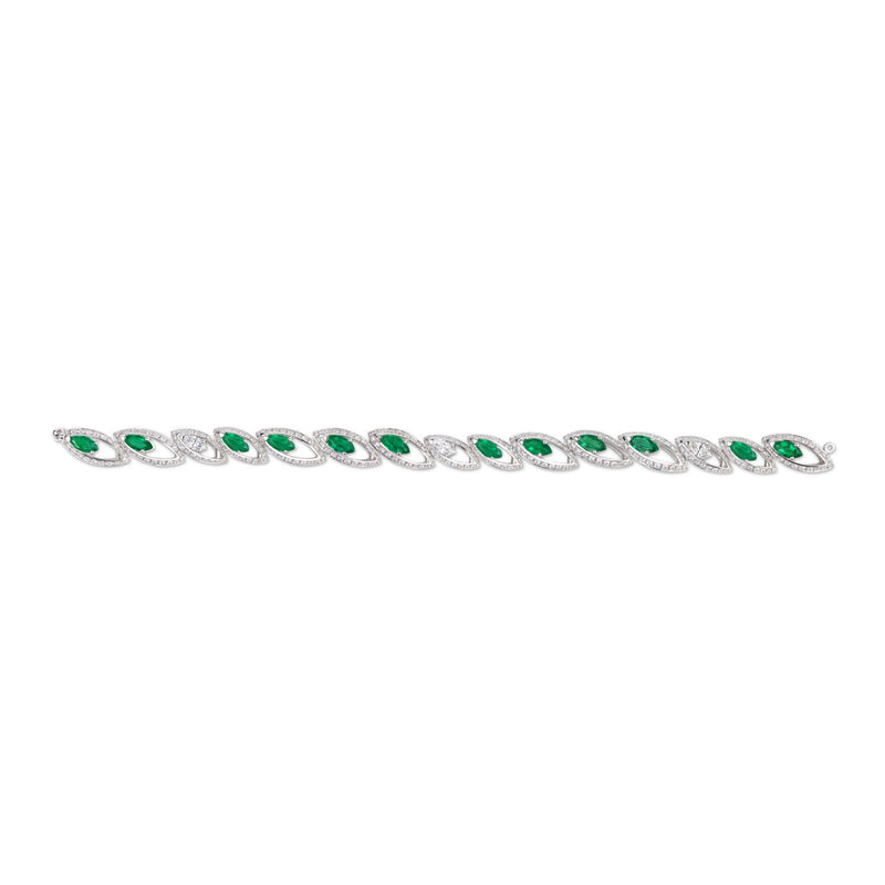 Petali Emerald and Diamond Bracelet