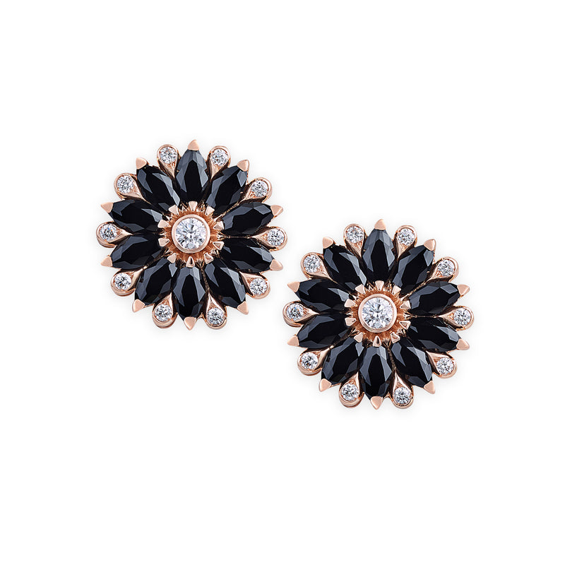 Amore Dalia Black Spinel Earrings