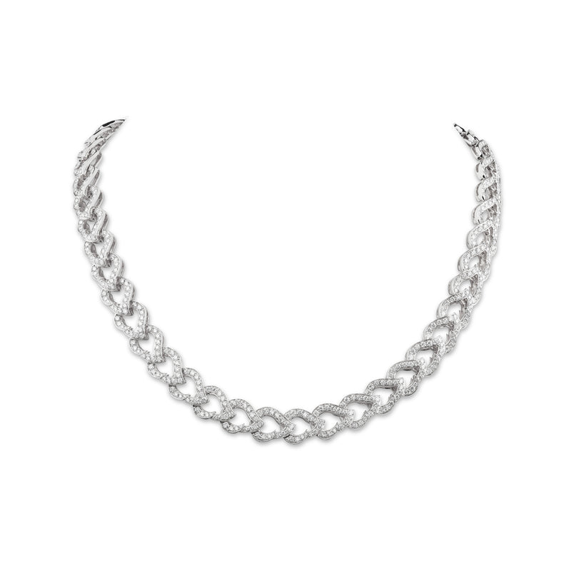 Kashmir White Gold and Diamond Chain Necklace