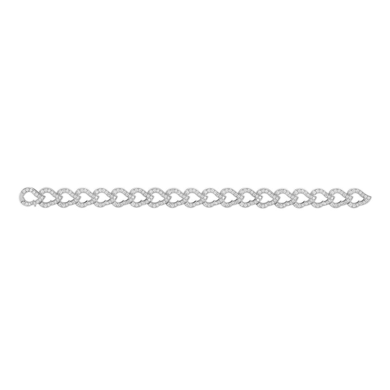 Kashmir White Gold and Diamond Chain Bracelet