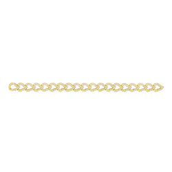 Kashmir Yellow Gold and Diamond Chain Bracelet