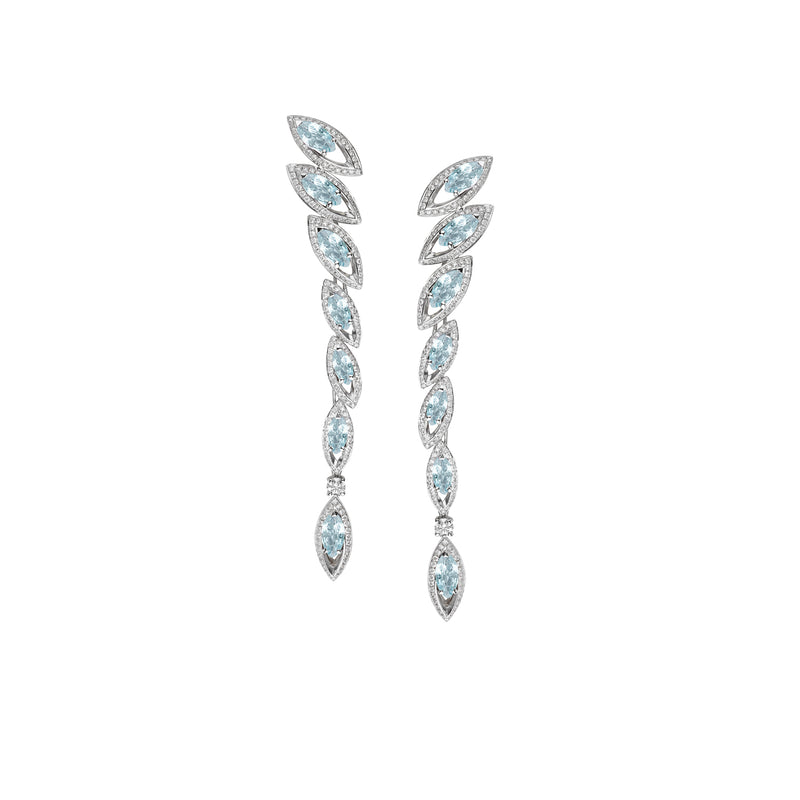 Petali Aquamarine Drop Earrings
