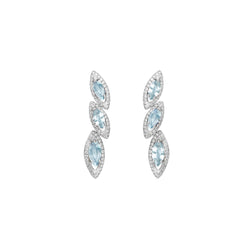 Petali Trilogy Aquamarine Earrings