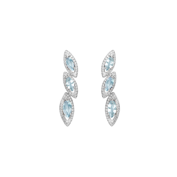 Petali Aquamarine Trilogy Earrings