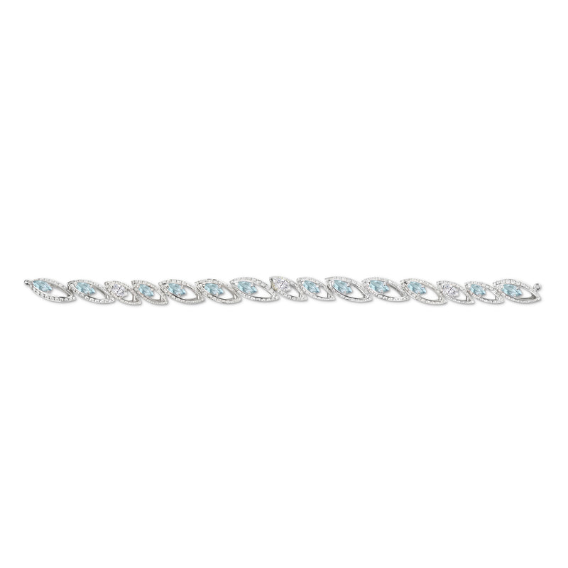 Petali Aquamarine and Diamond Bracelet