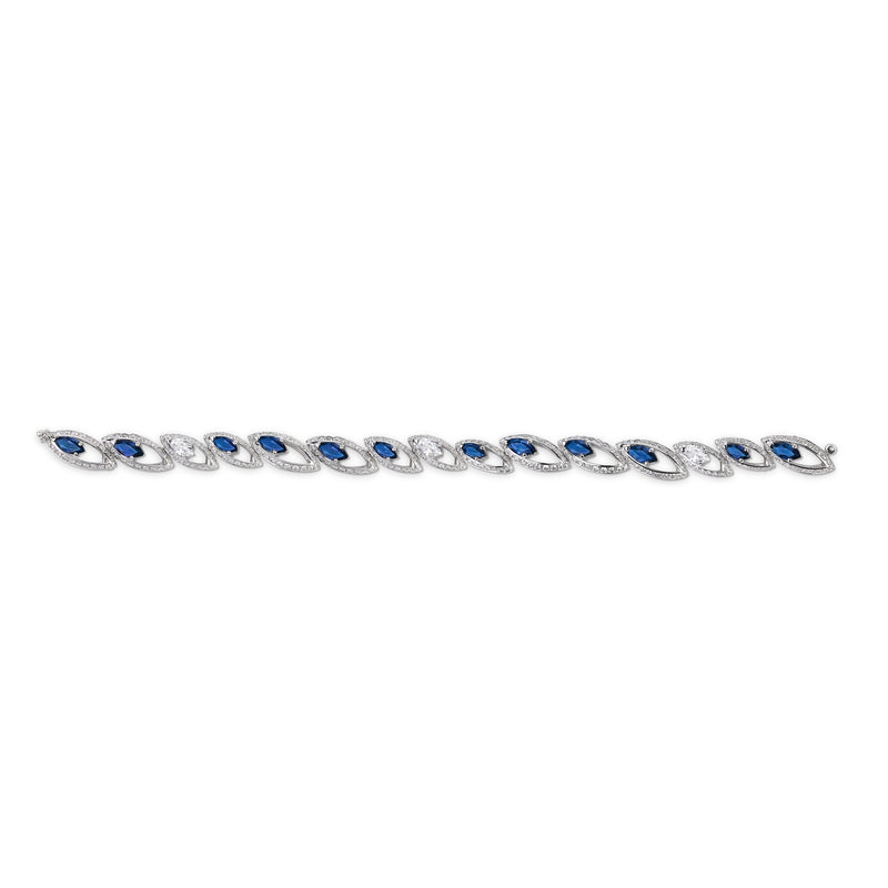 Petali Blue Sapphire and Diamond Bracelet