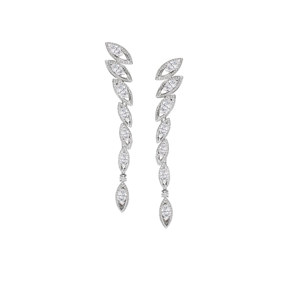 Petali Diamond Drop Earrings