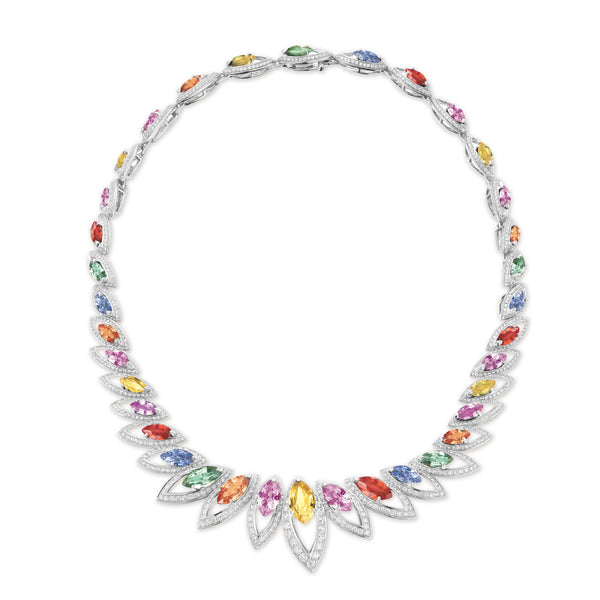 Petali Multicoloured Sapphire Necklace