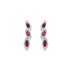 Petali Trilogy Ruby Earrings