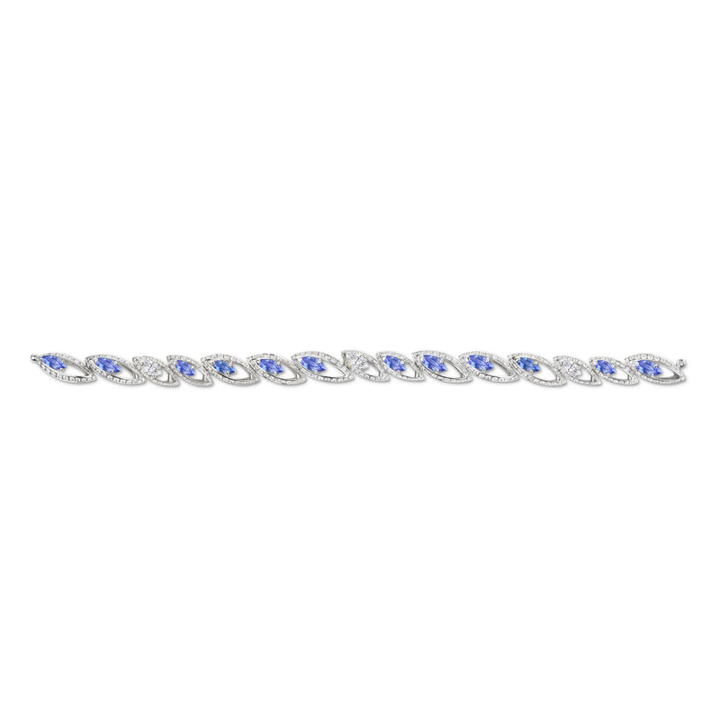 Petali Tanzanite and Diamond Bracelet
