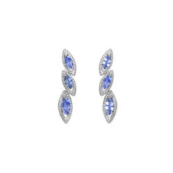 Petali Trilogy Tanzanite Earrings