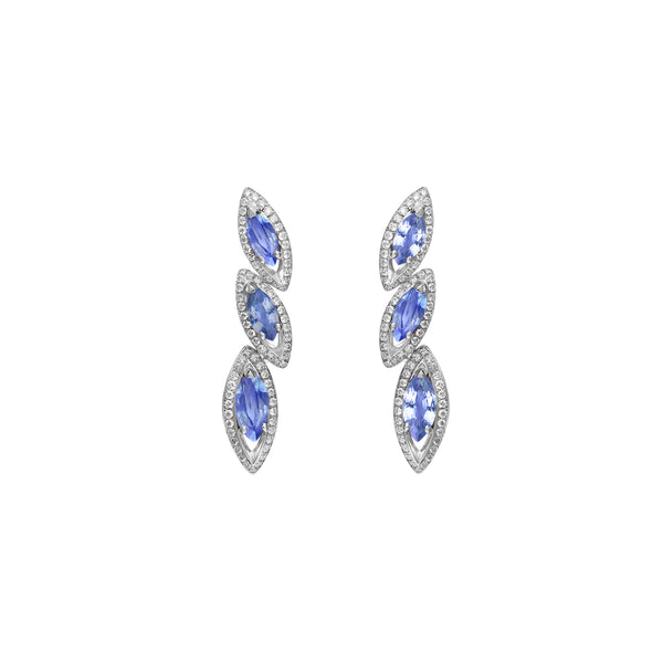 Petali Tanzanite Trilogy Earrings