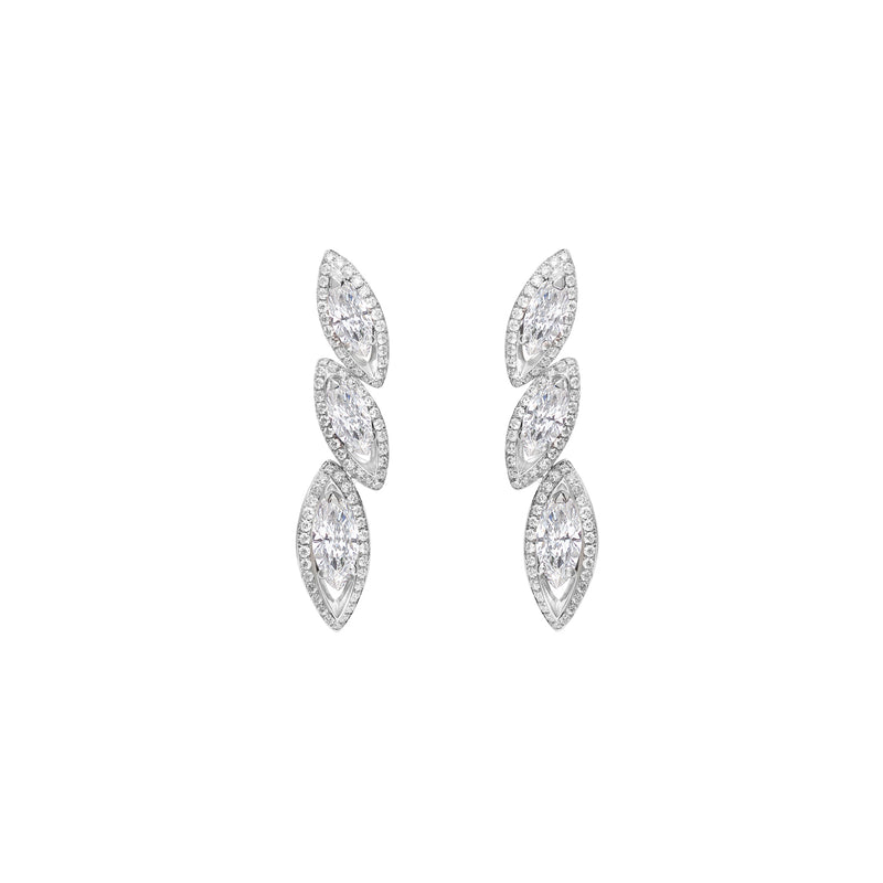 Petali Trilogy Diamond Earrings