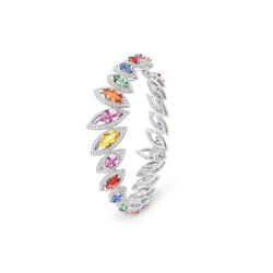 Petali Multicoloured Sapphire Bangle
