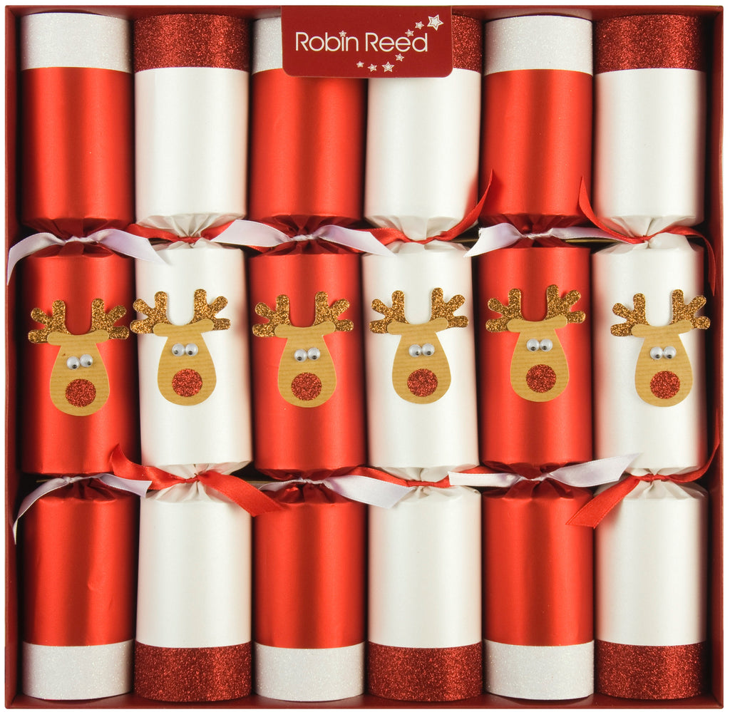 "6 x 13"" Handmade Christmas Crackers by Robin Reed - Racing Reindeer - 701"