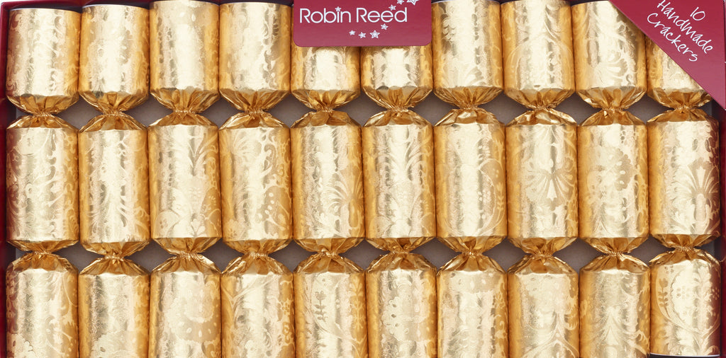 "10 X 8.5"" English Christmas Crackers By Robin Reed - Gold decadence - 420"