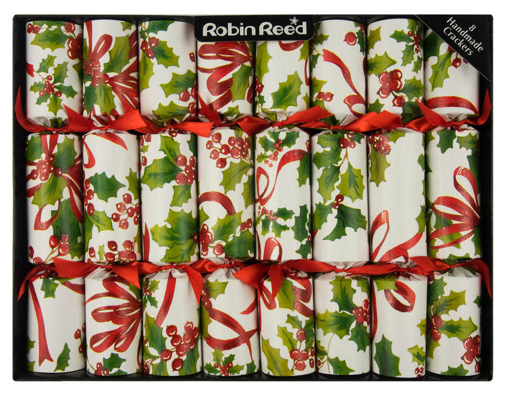 "8 X 10"" Handmade English Christmas Crackers By Robin Reed - Holiday Holly - 51204"