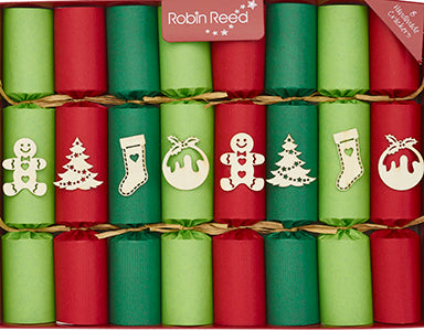 "8 x 10"" Handmade English Christmas Crackers by Robin Reed of England - crafty christmas 51904"