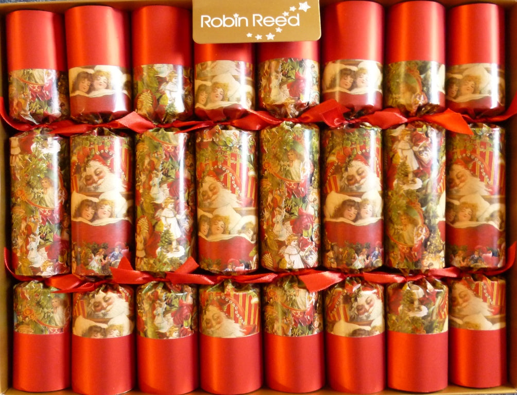 "8 X 10"" Handmade English Christmas Crackers By Robin Reed - All snug in bed - 527"