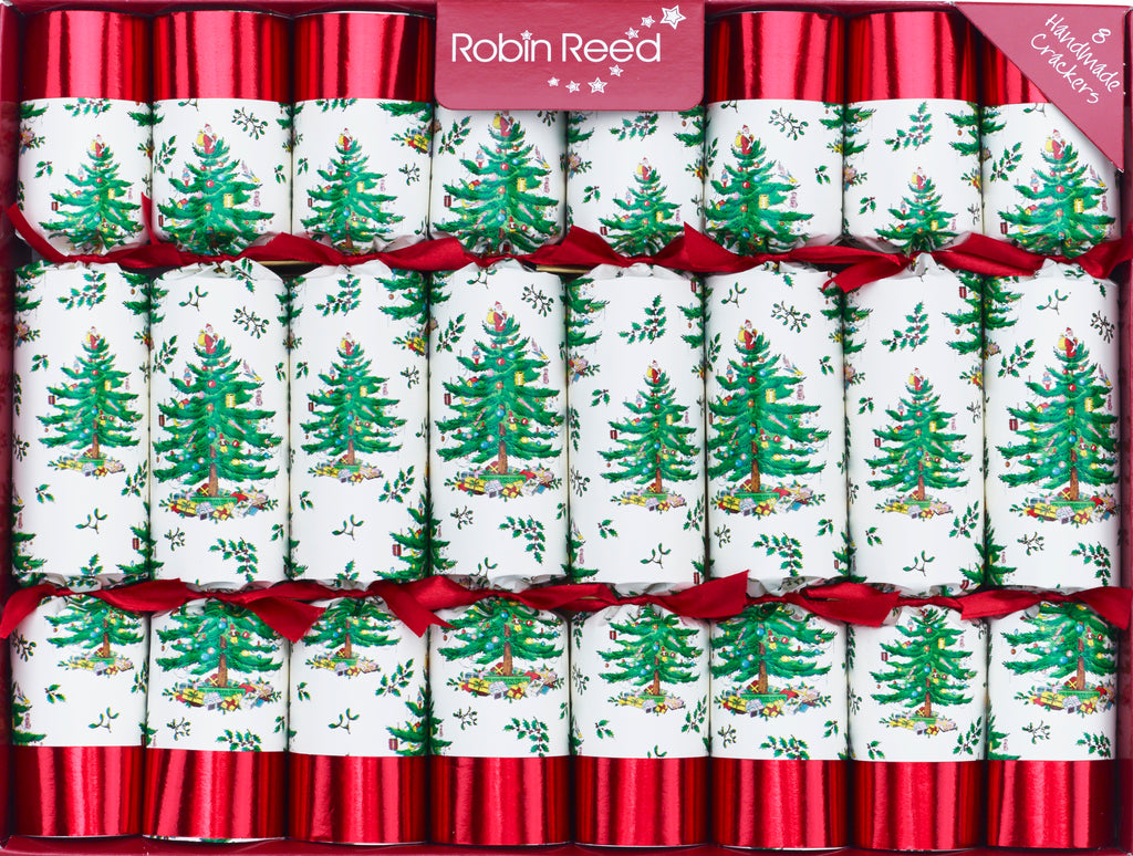 "8 X 10"" Handmade English Christmas Crackers By Robin Reed - SPODE TREE - 5530"