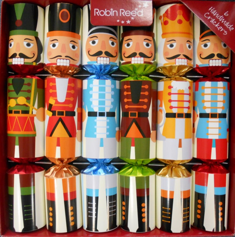 "6 x 12"" Handmade Christmas Crackers by Robin Reed - Nutcracker Brights 61735"