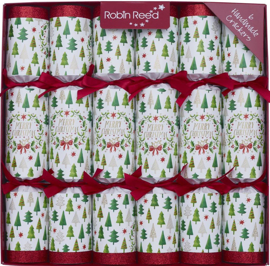 "6 X 12"" English Christmas Crackers From Robin Reed - Christmas Trees 61743"