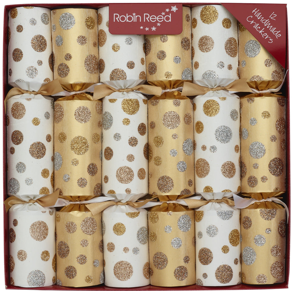 "6 x 12"" Handmade English Christmas Crackers by Robin Reed - Sparkle Spots - 61934"