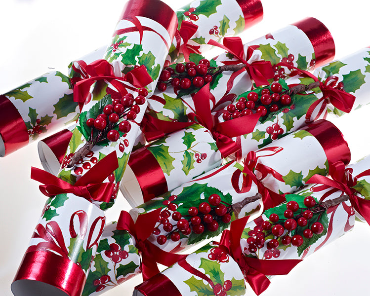 "6 x 12"" Handmade English Festive Christmas Crackers by Robin Reed - Winter Berry 6012"