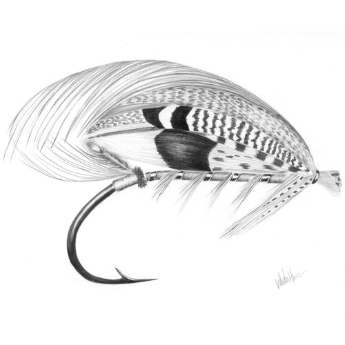 Greenwell Salmon Fly Art Print