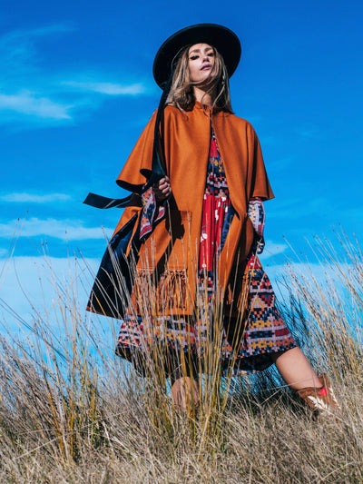 Sheryl May - Wool Fringe Coat