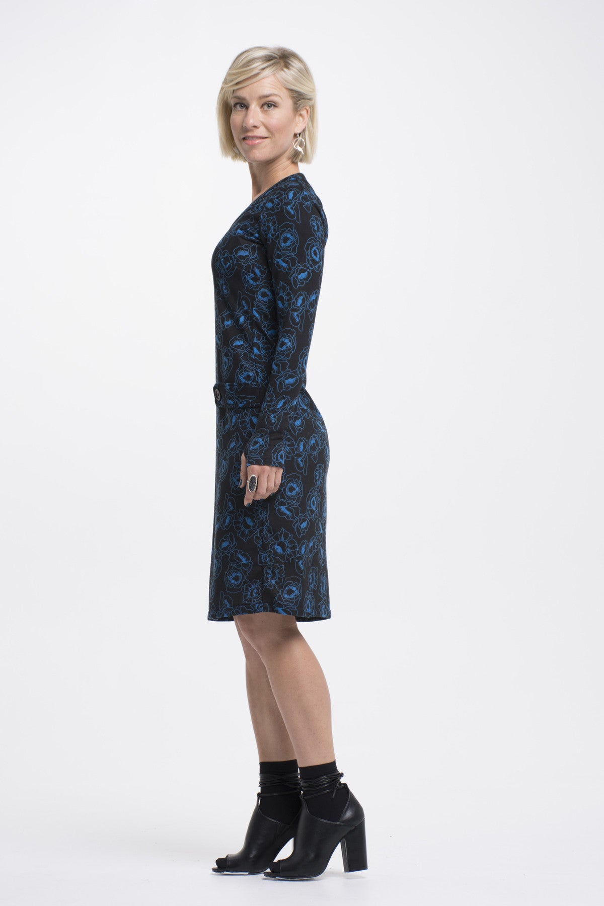 Vesta Sweater Dress - Blue Rose was $198 now $178