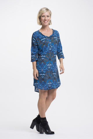 Vesta Plaquet Tunic - Blue Shield