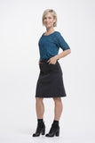 Vesta 2 Pocket Skirt - Black Denim