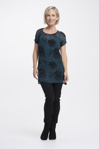 Vesta Victorian Tunic - Jade Flower was $188 now $168