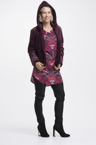 Vesta Plaquet Tunic - Ruby Feather