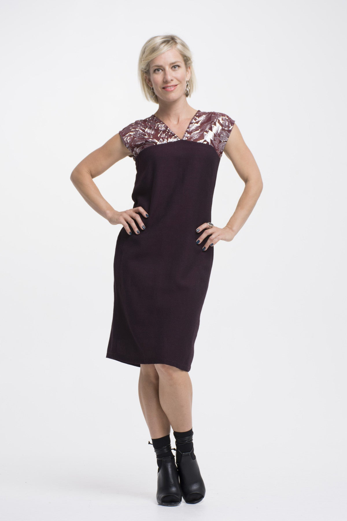 Vesta Soprano Dress - Ruby and Silver was $198 now $188