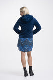 Vesta Hooded Fur Jacket - Cobalt was $268 now $228