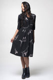 Juna Tie Dress - Black Orchid