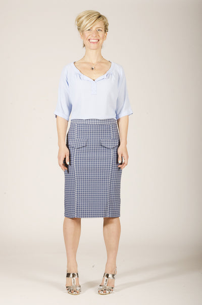 Vesta Meridiana Skirt - Chambray
