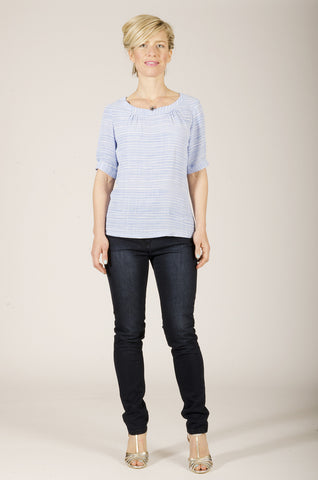 Vesta Stripey Top - Chambray was $178 now $118