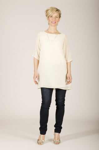 Vesta Esmerelda Tunic - Creamy was $188 now $148