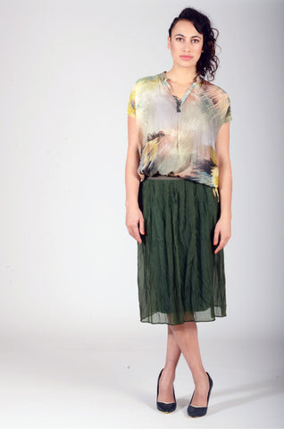 Juna Sage Silk Organza Skirt was $198 now $168