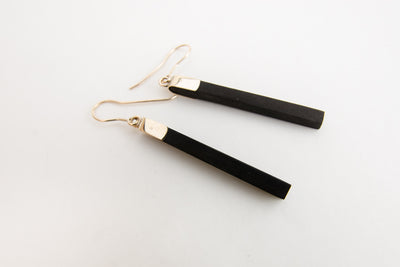 Ebony Drop Earrings