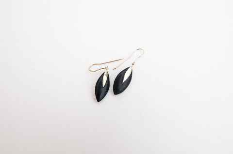 Ebony 9ct Gold Earrings