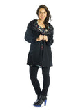 Vesta Zhivago Coat - Black and Fur was $330 now $280