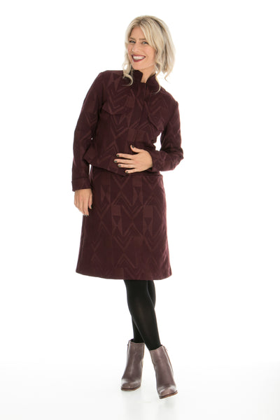 Vesta Astro Jacket - Wine Stiched Ponti was $288 now $248