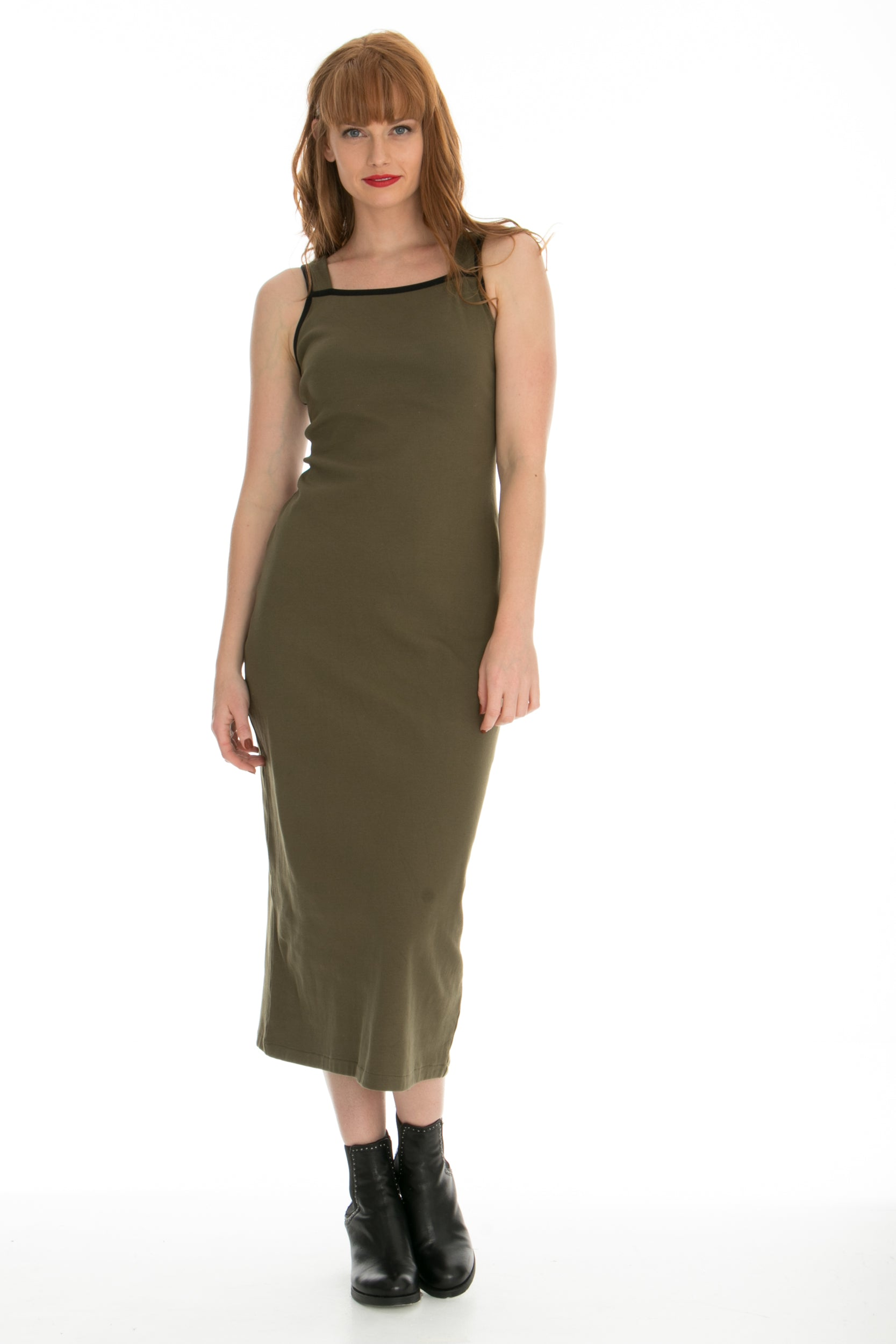 Juna Ripple Dress - Olive