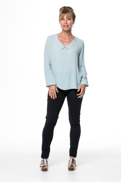 Vesta V Collar Shirt - Mint was $198 now $168