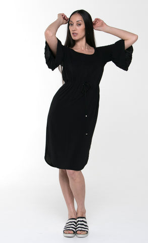 Juna Rufrill Sleeve Dress - Black