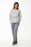 Juna Demelza Top - Chalk Check